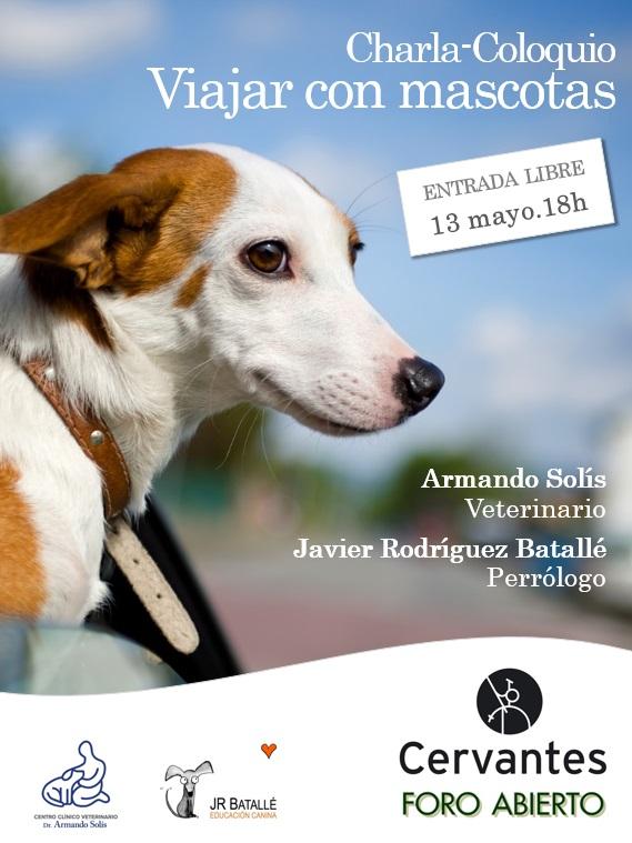 Viajar con mascotas. En la librería Cervantes